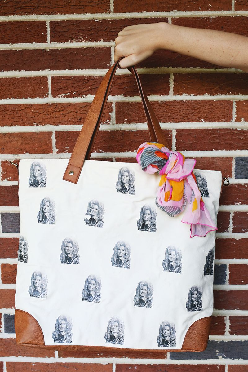 Dolly Parton bag DIY!
