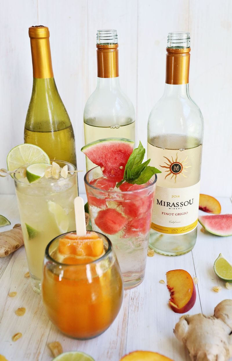 3 Easy White Wine Spritzers A Beautiful Mess