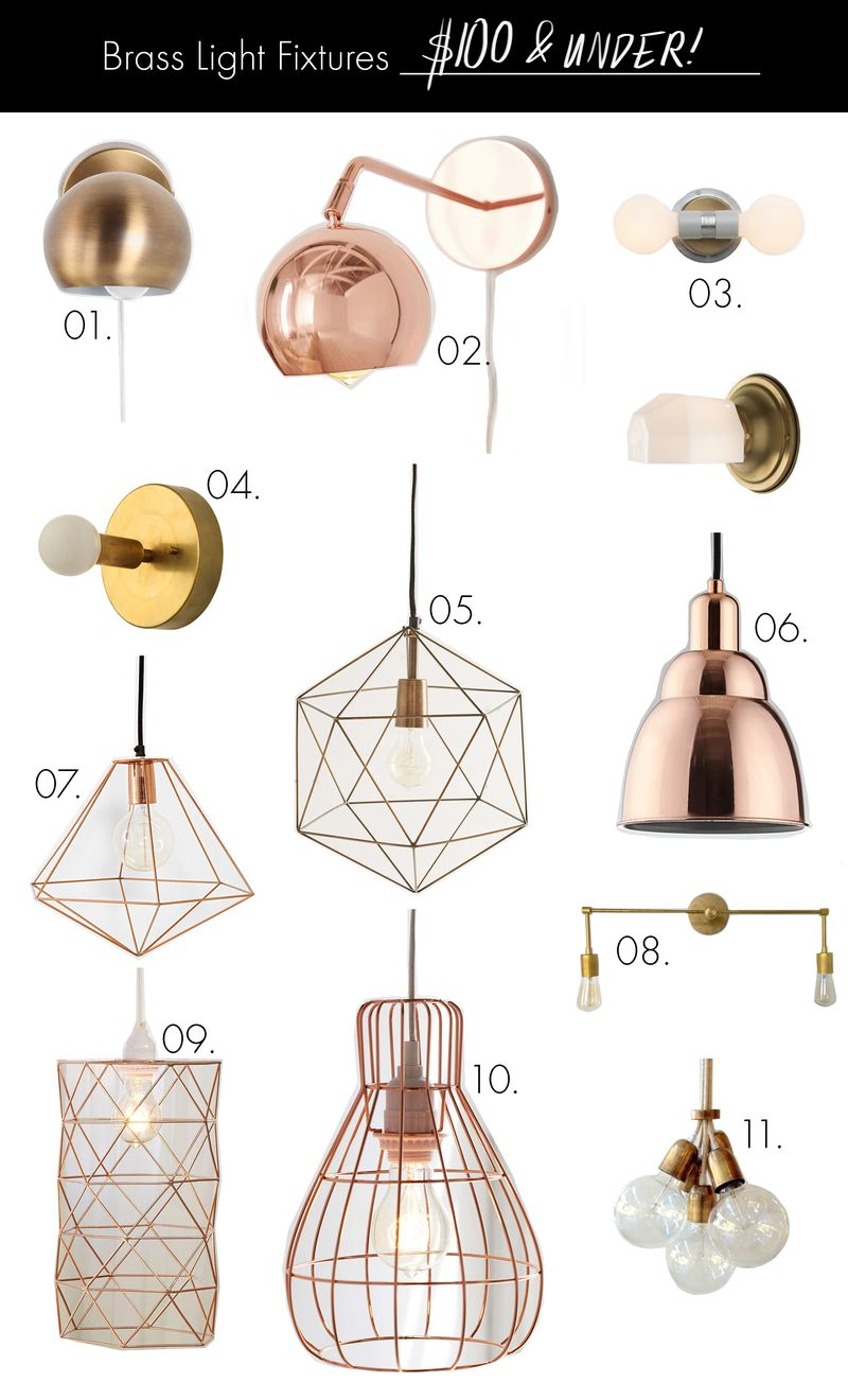 Brass light fixtures on any budget under 100