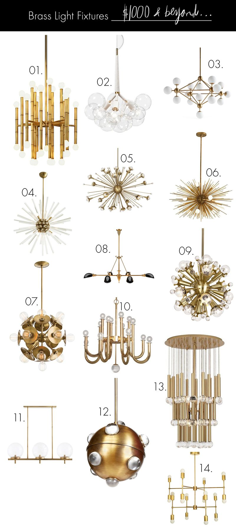Brass light fixtures on any budget 1000 and beyond