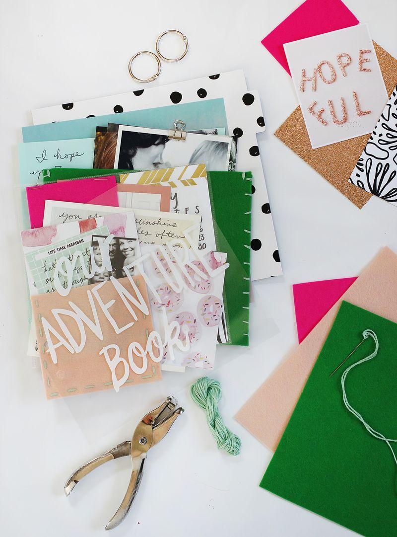 Create fun felt pockets for your scrapbook or mini album with A Beautiful Mess merino wool! Get the full tutorial on www.ABeautifulMess.com