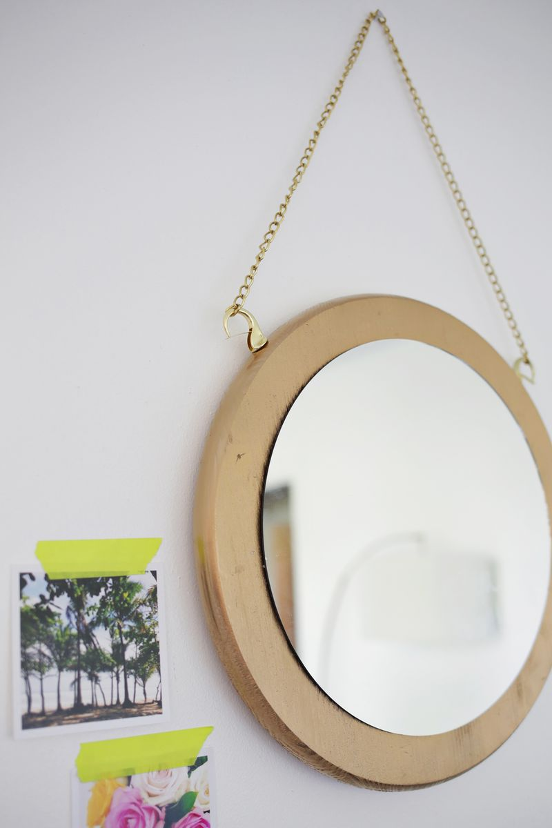 Circle Chain Mirror Diy A Beautiful Mess