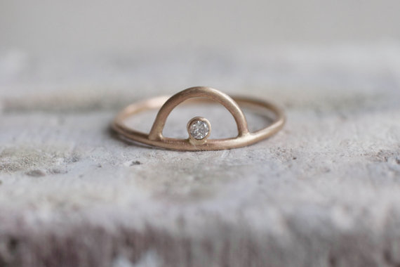 Sweet recycled gold ring