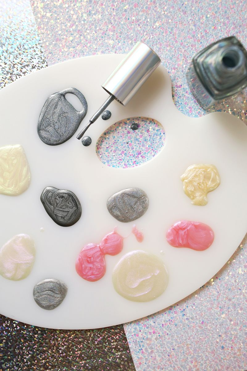 Jolene Andersen Nude holographic and iridescent nail polish - a beautiful mess