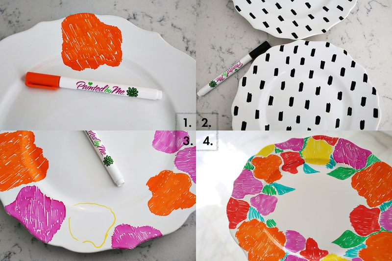 Hand painted dishes with foodsafe paint!