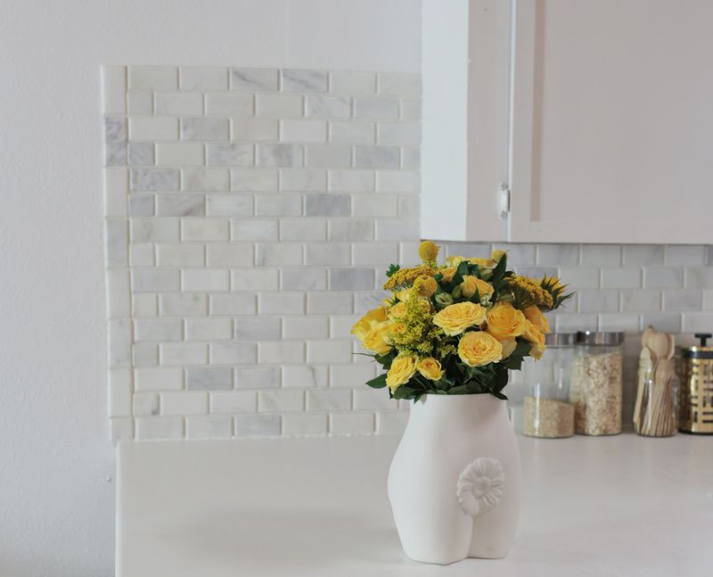 How to tile a kitchen backsplash with marble