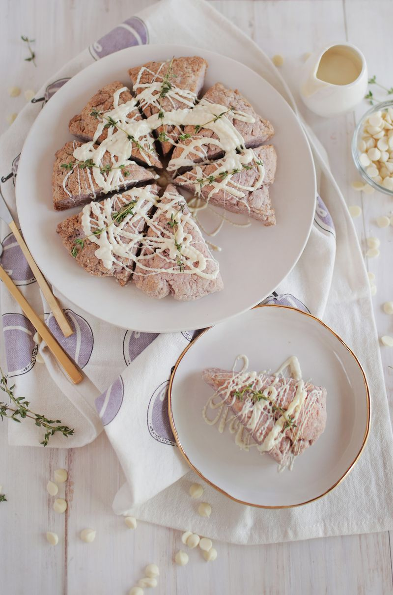 Lavender thyme and white chocoalte scones (via abeautifulmess.com)