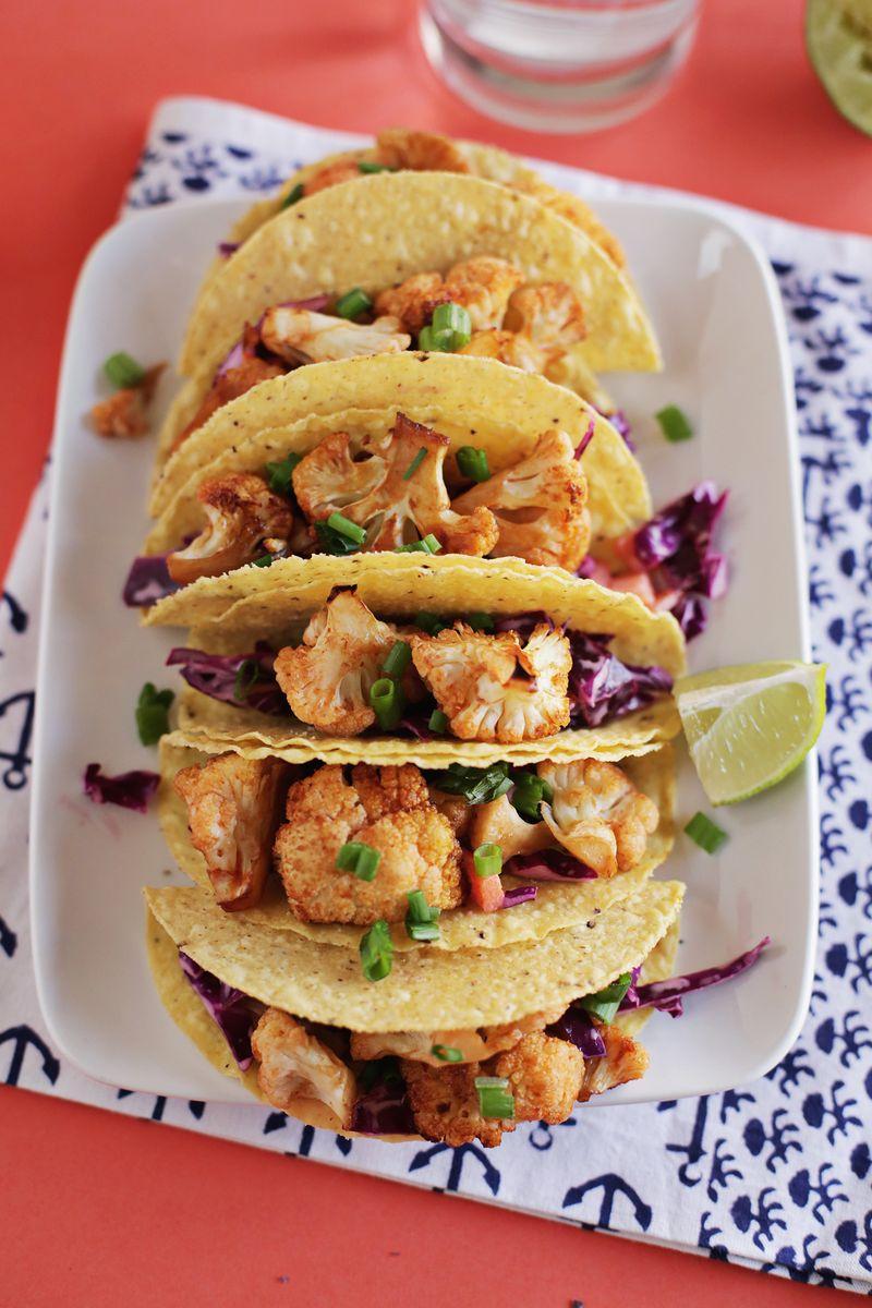 Spicy cauliflower taco
