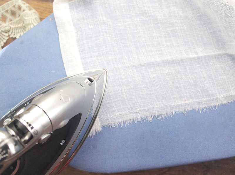 Step 2- Press your seams open