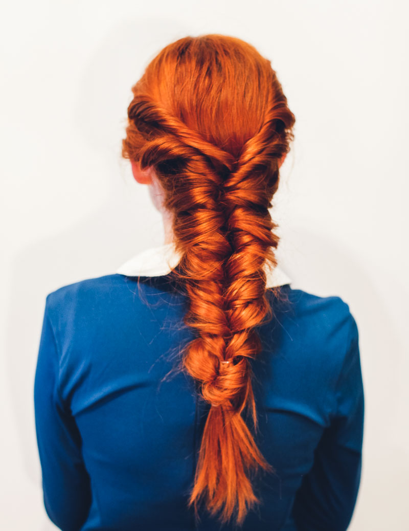No Fuss Faux Fishtail Tutorial - A Beautiful Mess