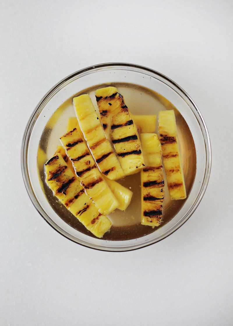 Grilled pineapple simple syrup