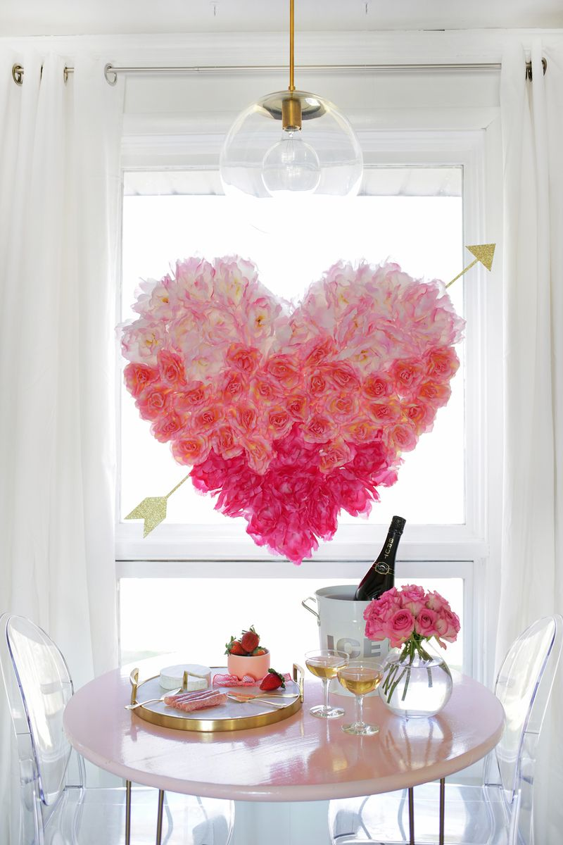 Hanging Flower Heart Diy A Beautiful Mess