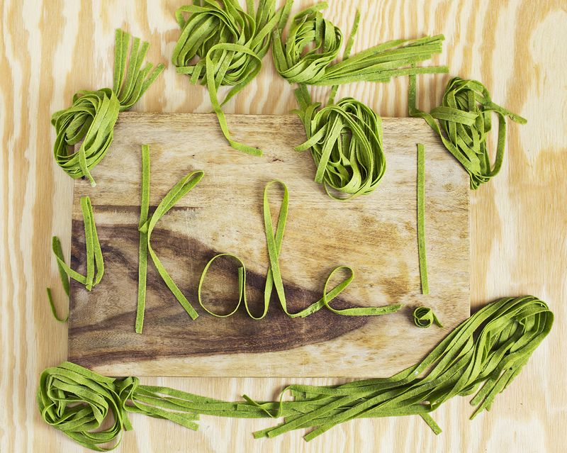 Homemade kale pasta (via abeautifulmess.com)
