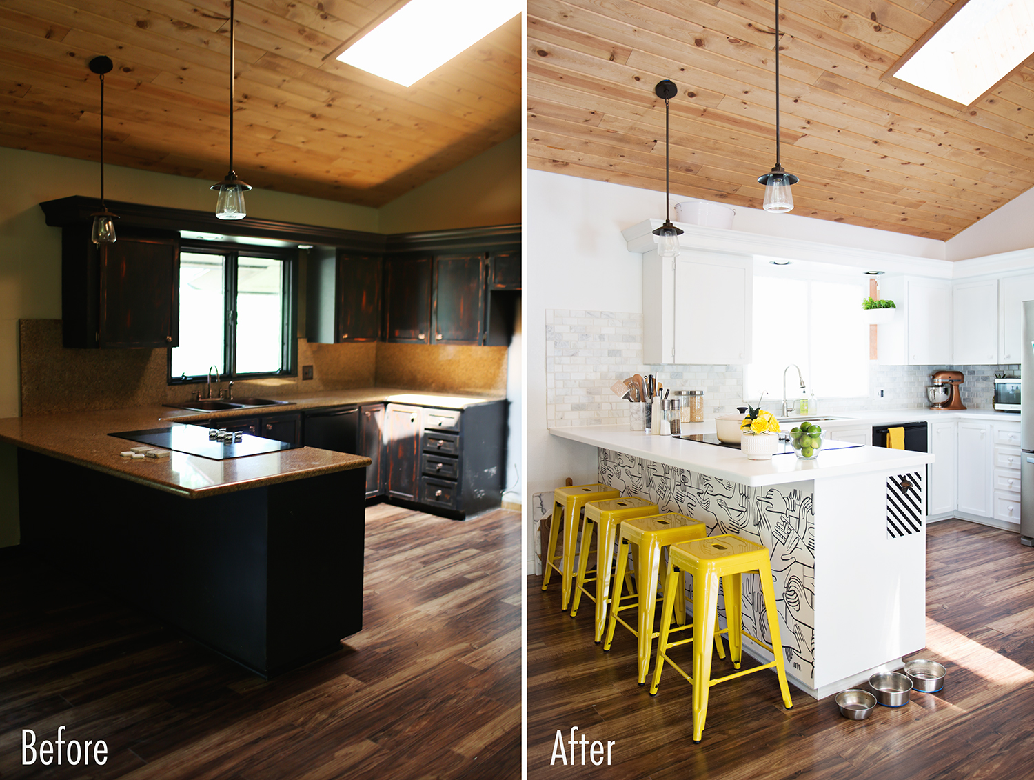 Emma's kitchen before and after