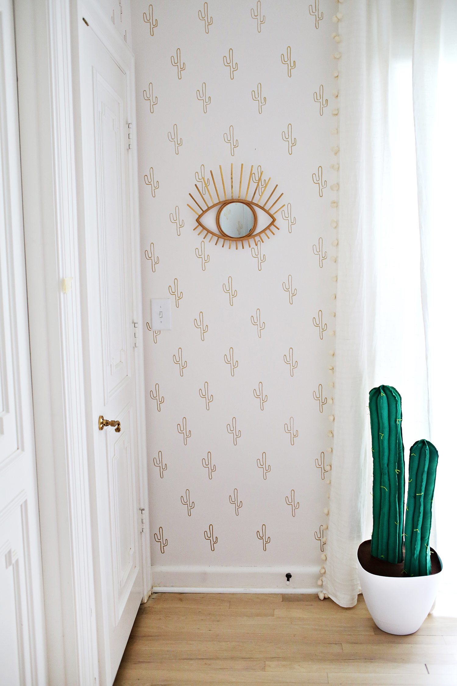 Gold Cactus Wallpaper DIY
