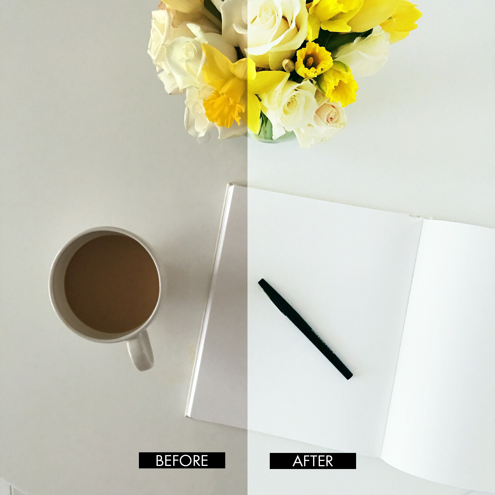 2016-03-24 Flower, pad, coffee