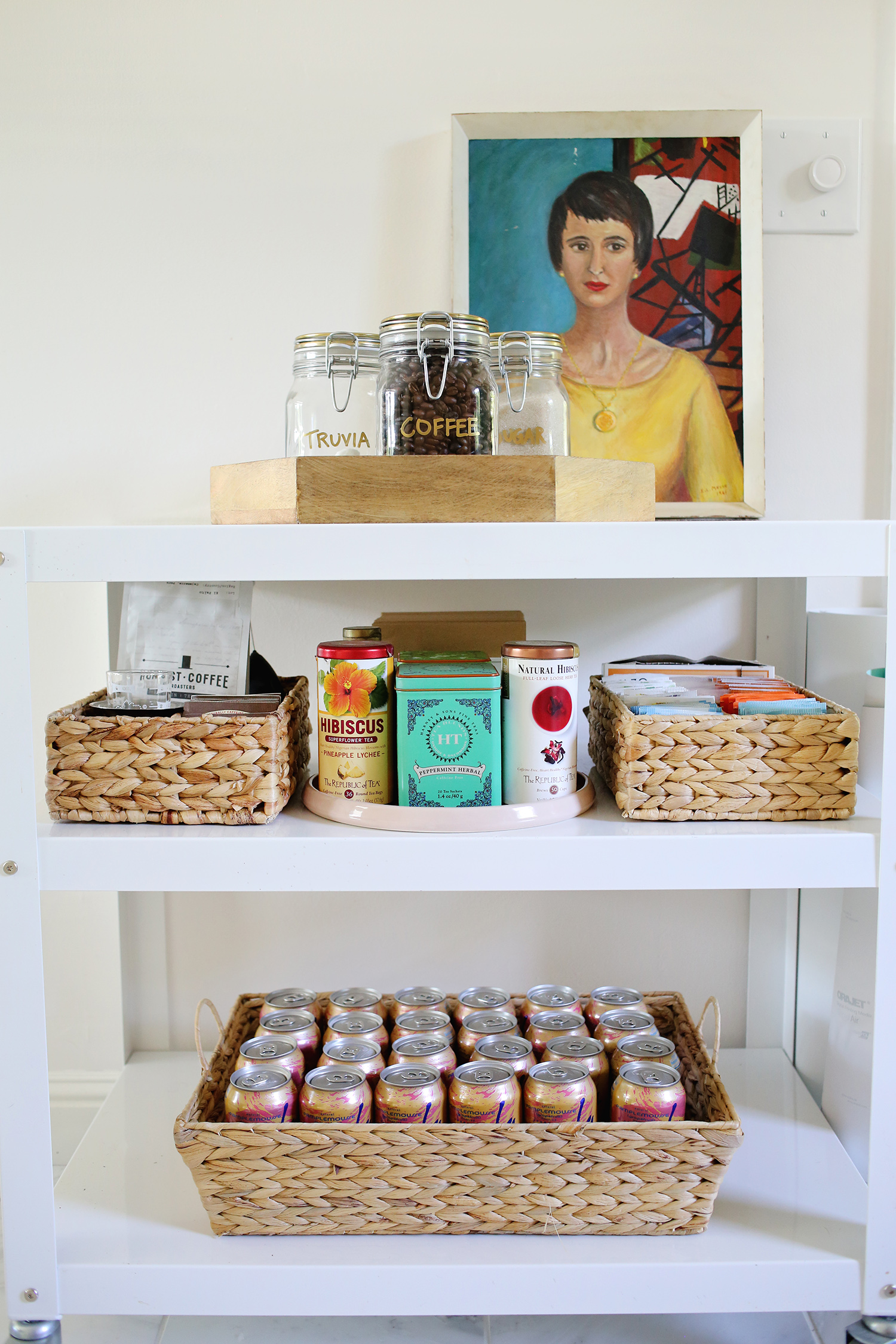 Organized coffee cart