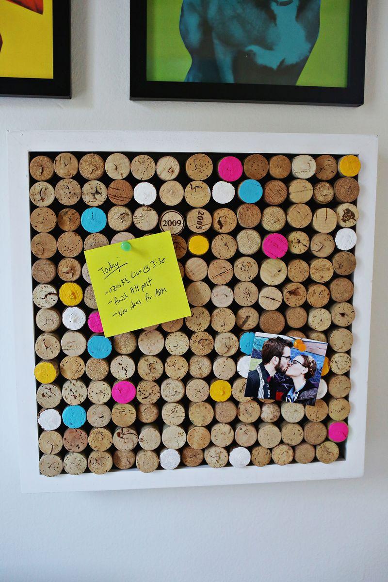 Wine cork bulletin board