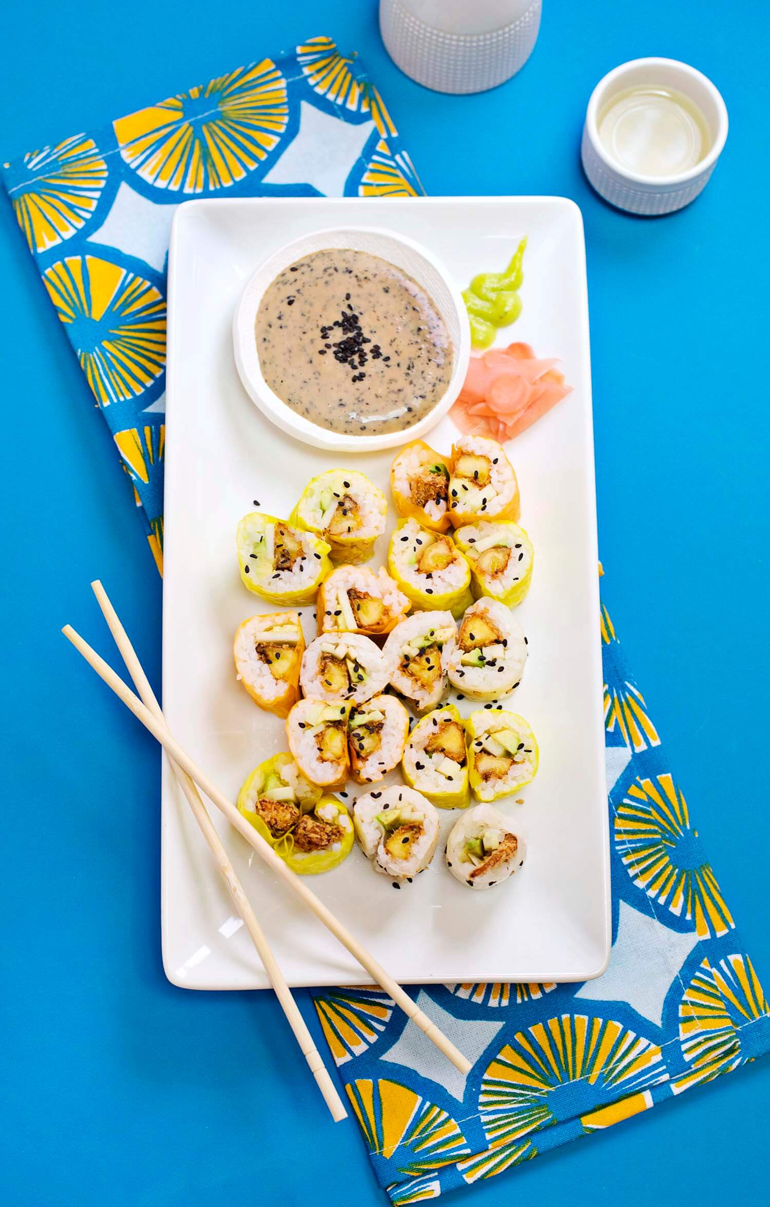 Vegan tempura sushi (via abeautifulmess.com)