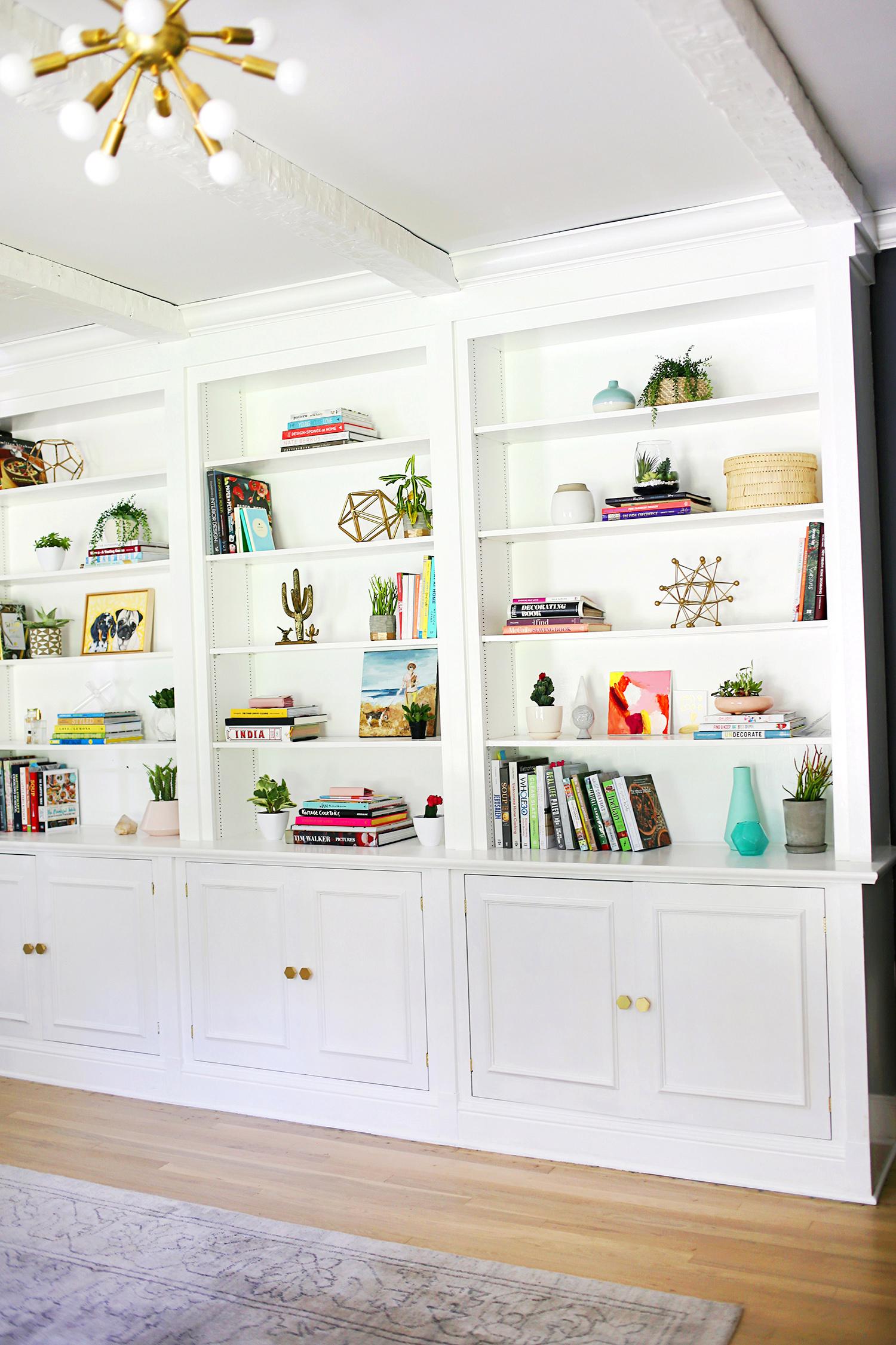 Progress report- Painted white book shelves