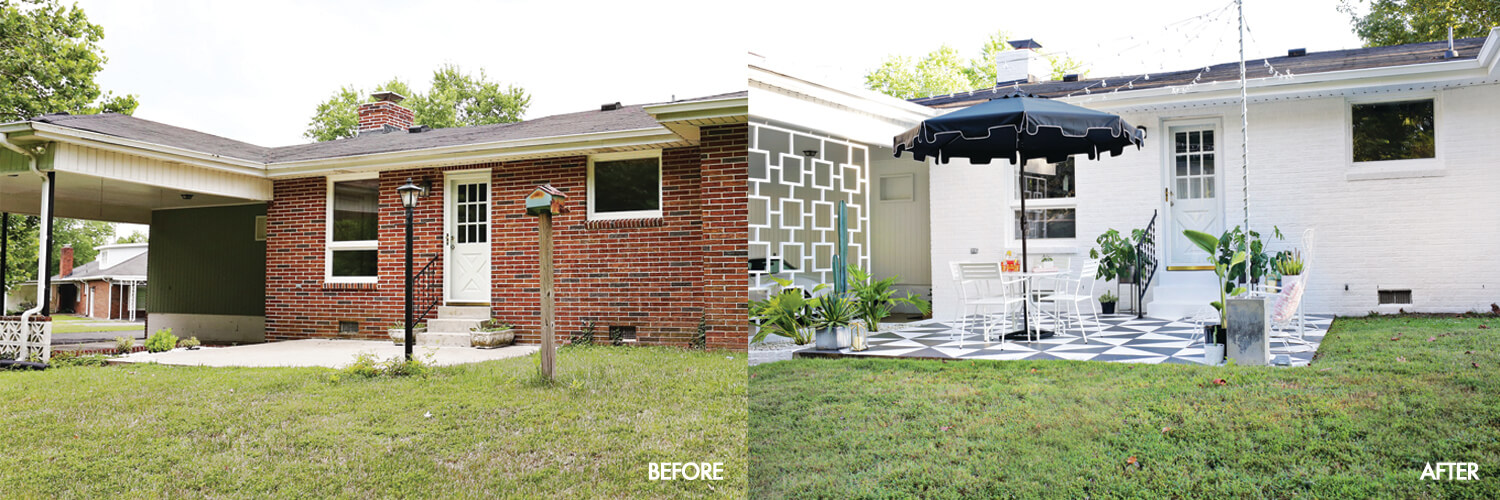 Laura's backyard tour! Before + After (click through for more)