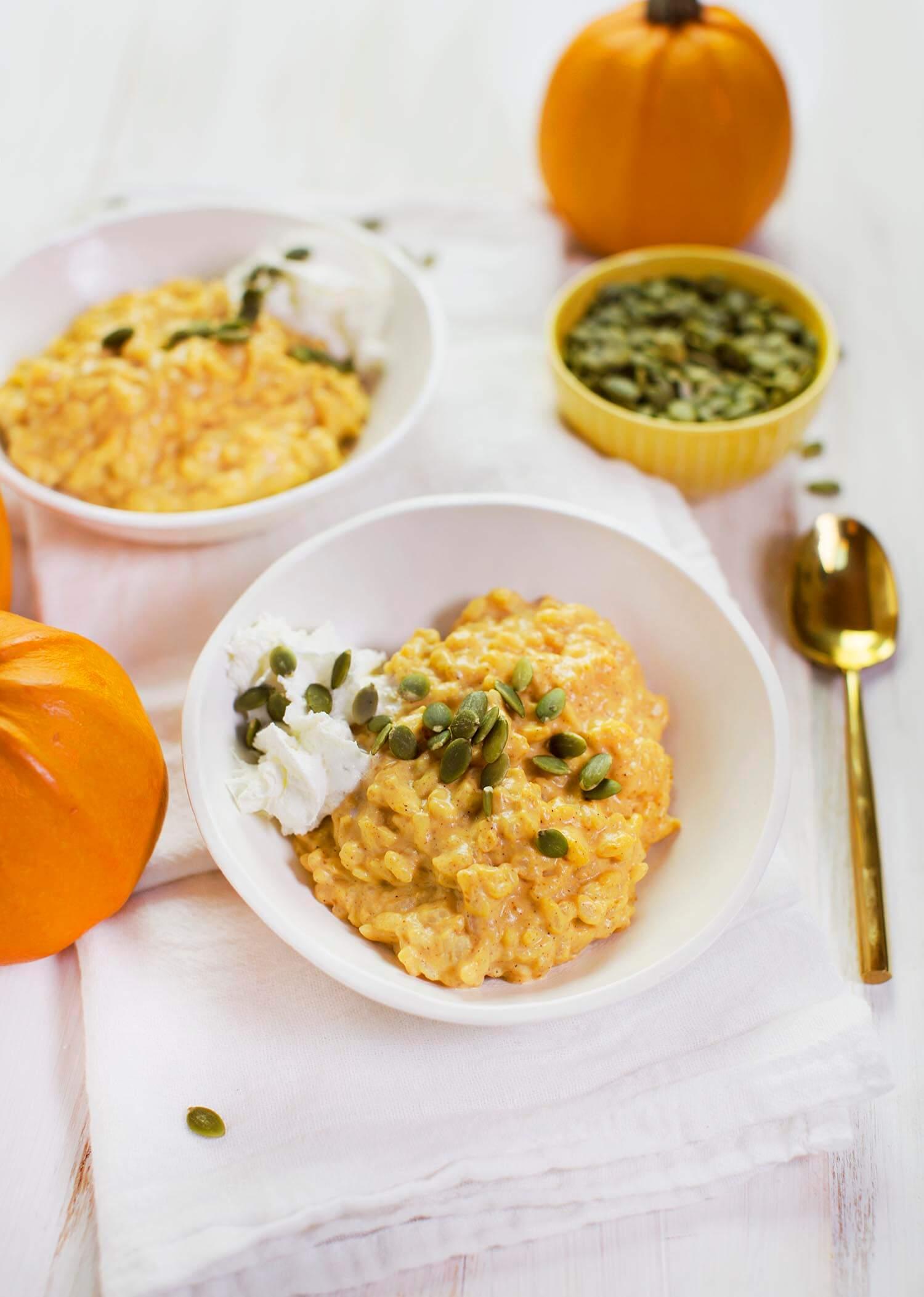 Pumpkin Spice Rice Pudding (via abeautifulmess.com)