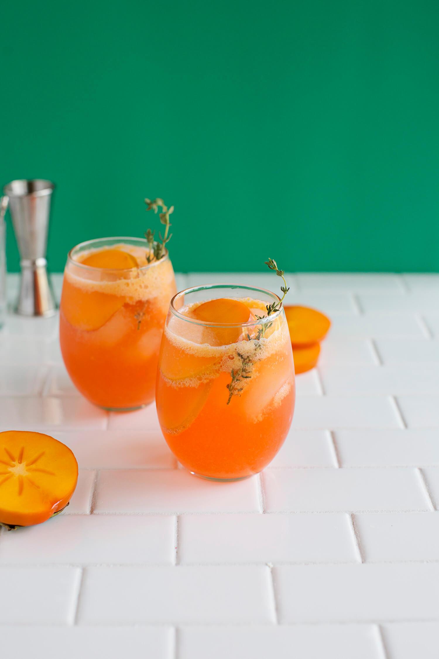 Persimmon Aperol Spritz (via abeautifulmess.com)