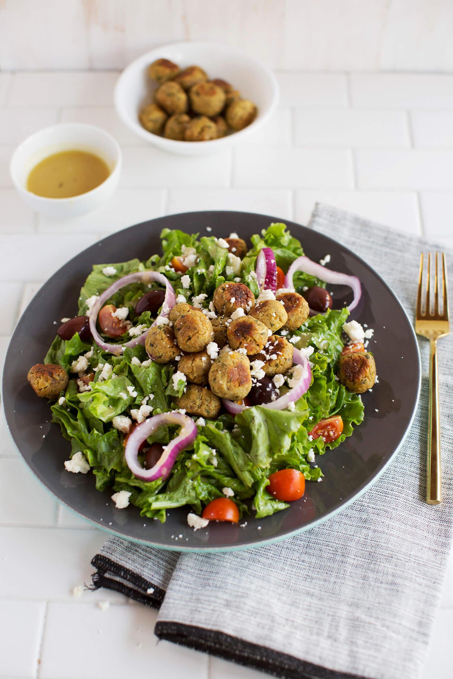 Baked Mini Falafel Salad (via abeautifulmess.com)