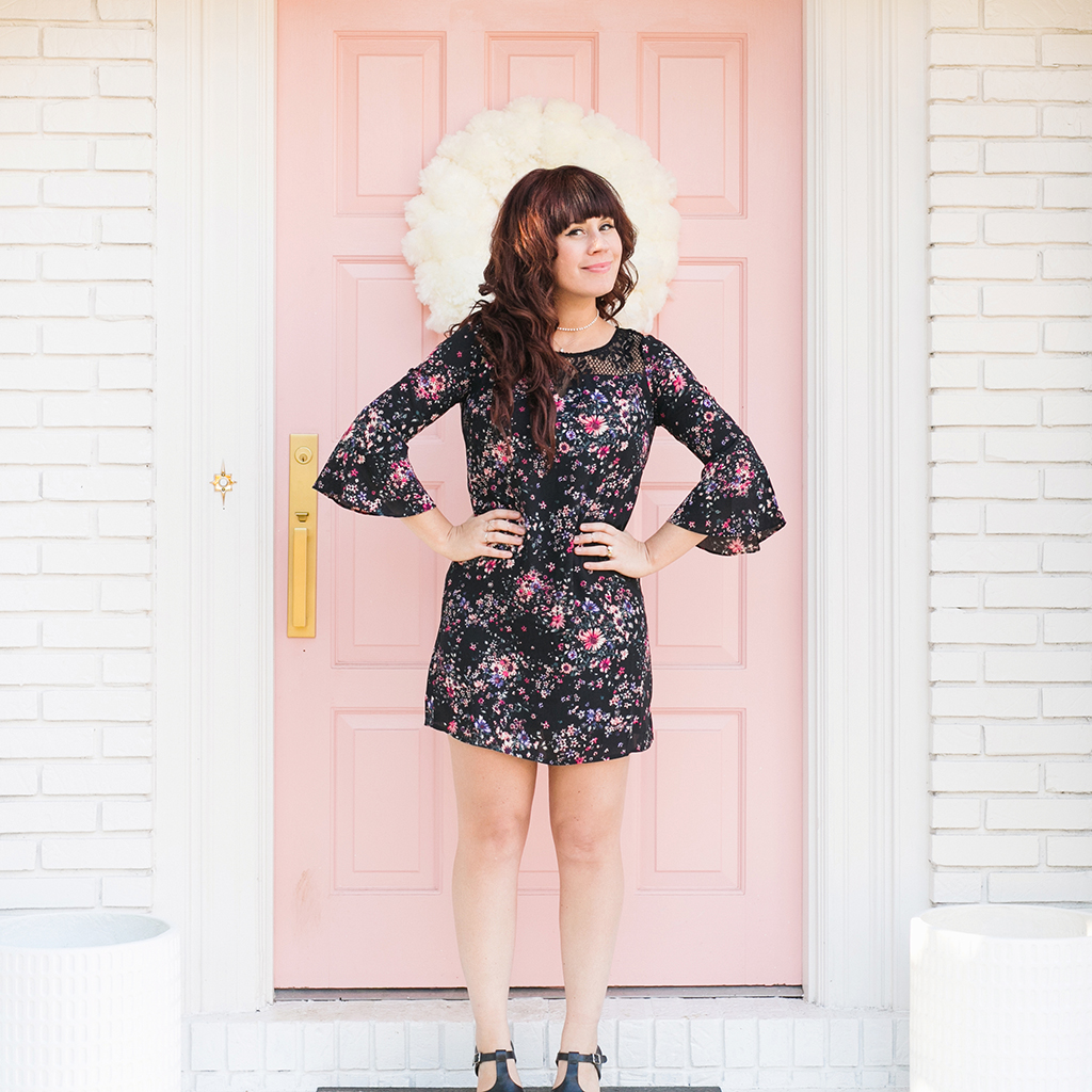 Floral Dreamer Bell Sleeve Dress 4