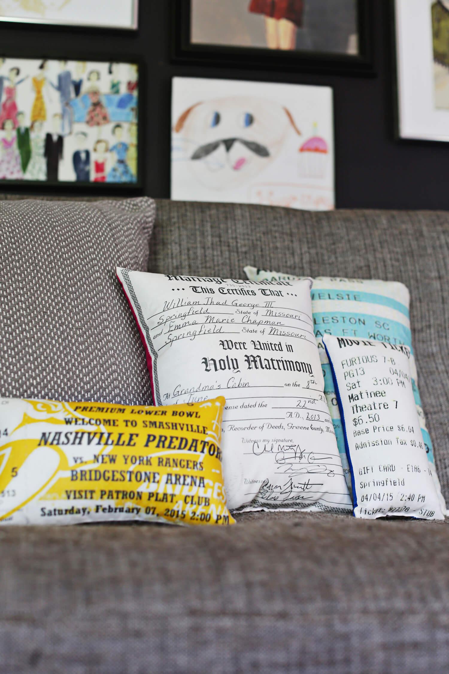 Decorative Document Plush Pillow DIY