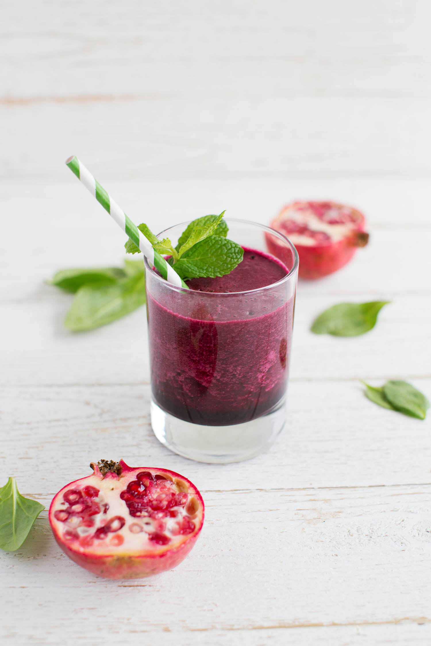 Pom, Beet, and Hidden Greens Smoothie (via abeautifulmess.com)