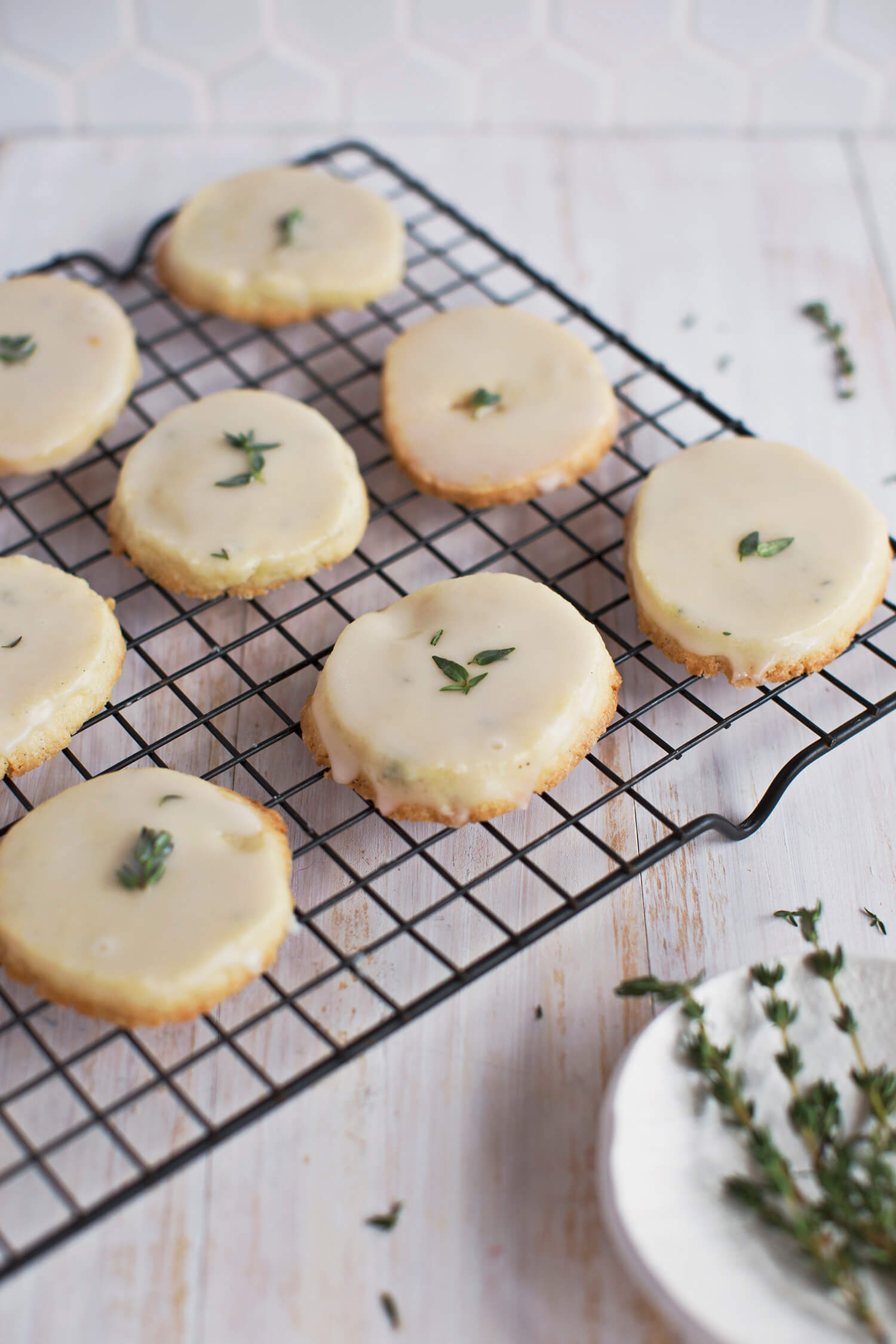 Vanilla Bean and Thyme Slice and Bake Cookies (via abeautifulmess.com)