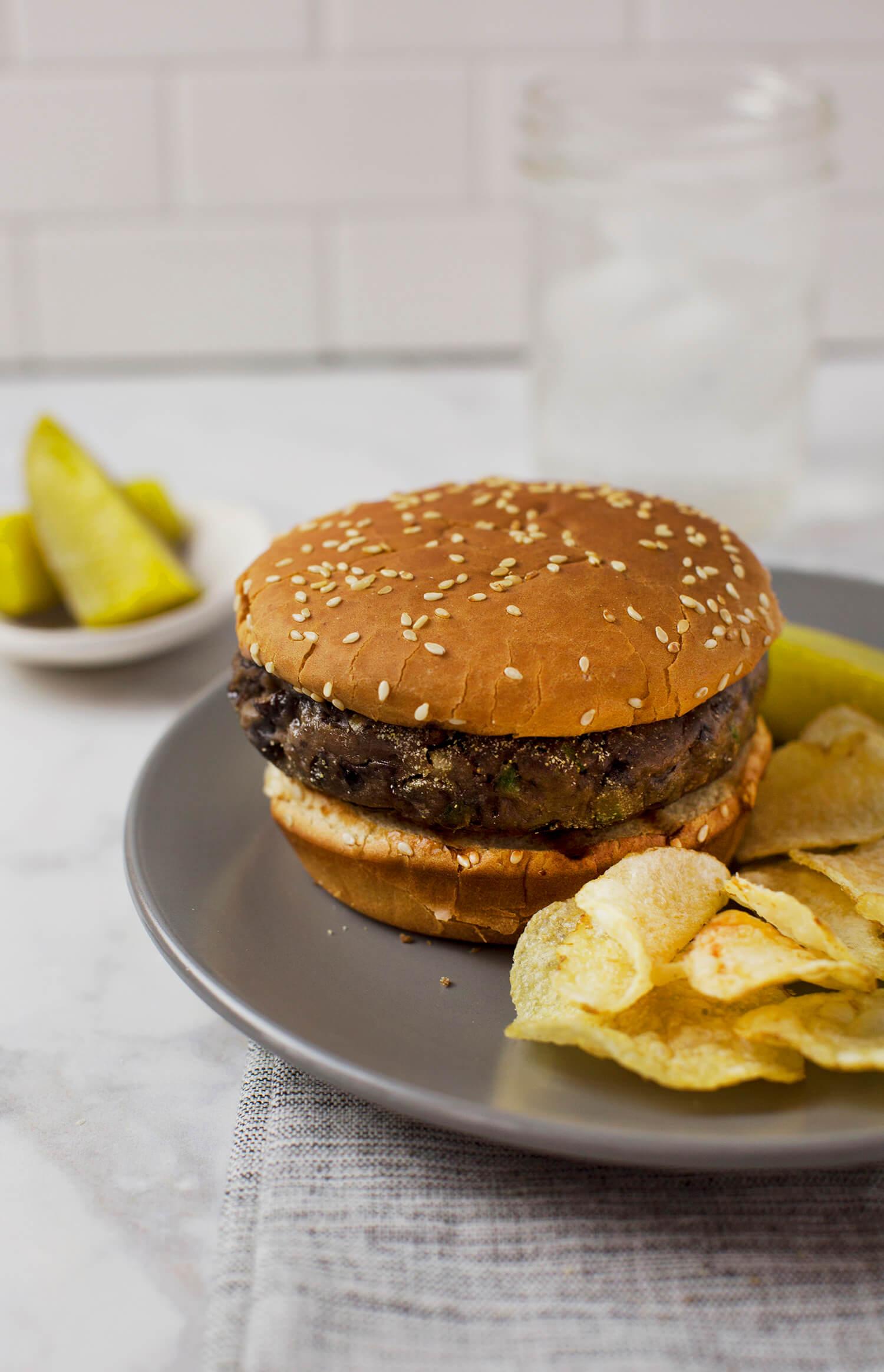 Jalapeno Popper Black Bean Burgers (via abeautifulmess.com)