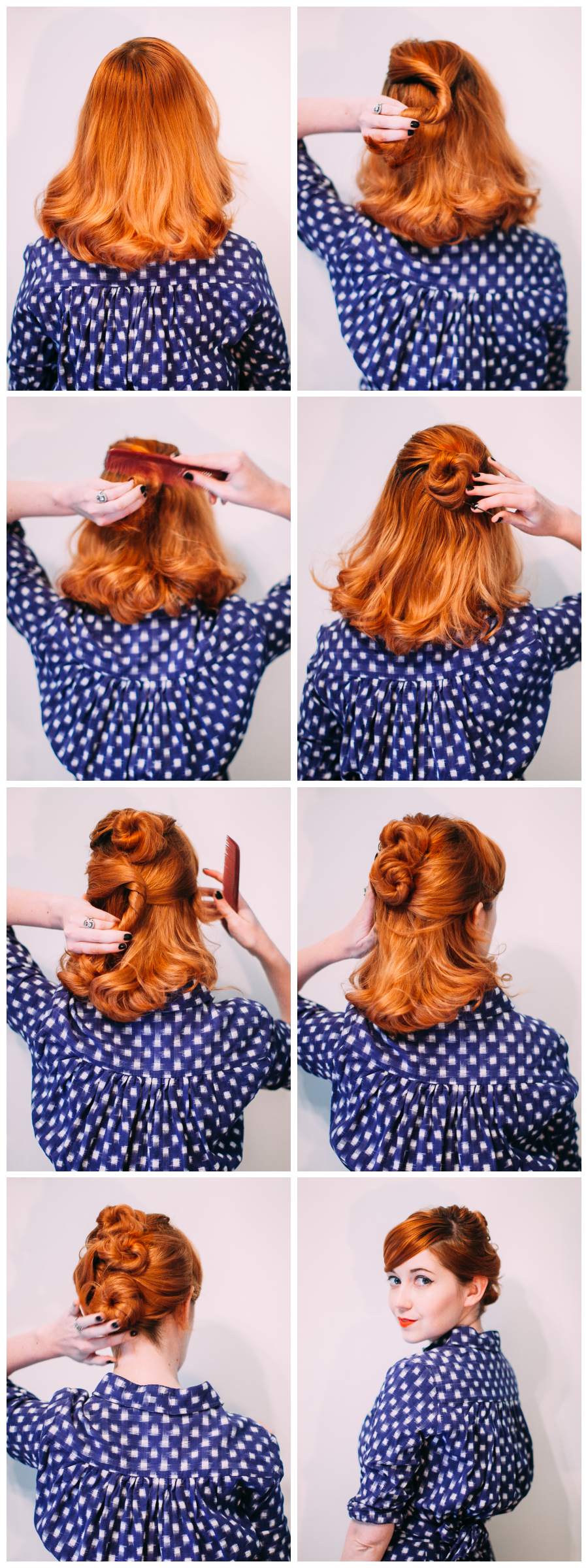 Easy messy hair updo (click-through for the full tutorial)