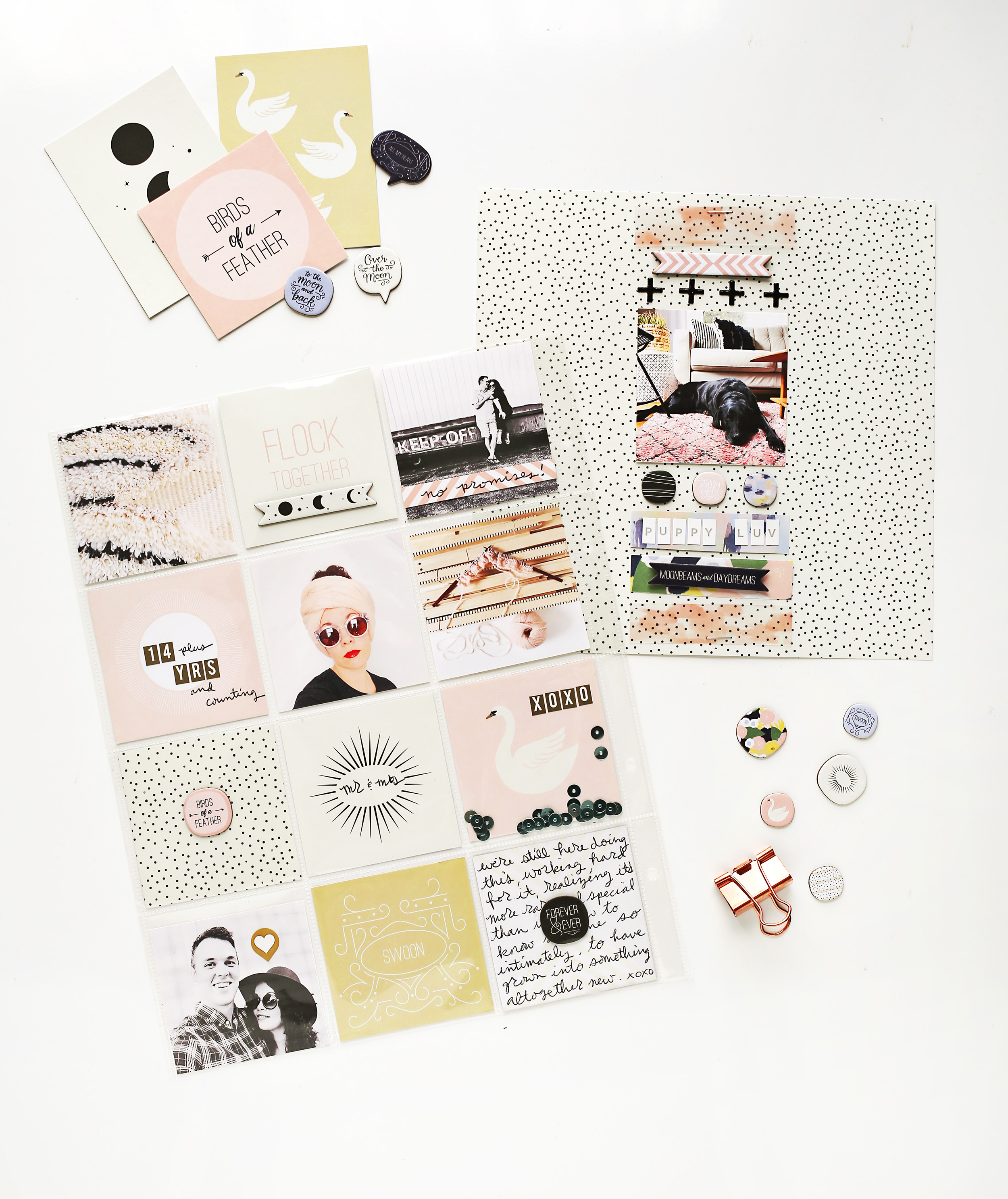 Scrapbook Sunday with Spiegeling January Messy Box