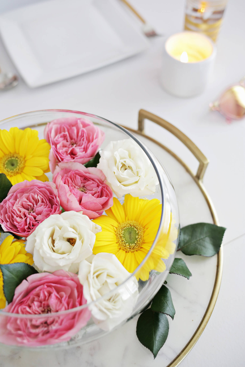 Easy Floating Floral Arrangement Diy A Beautiful Mess