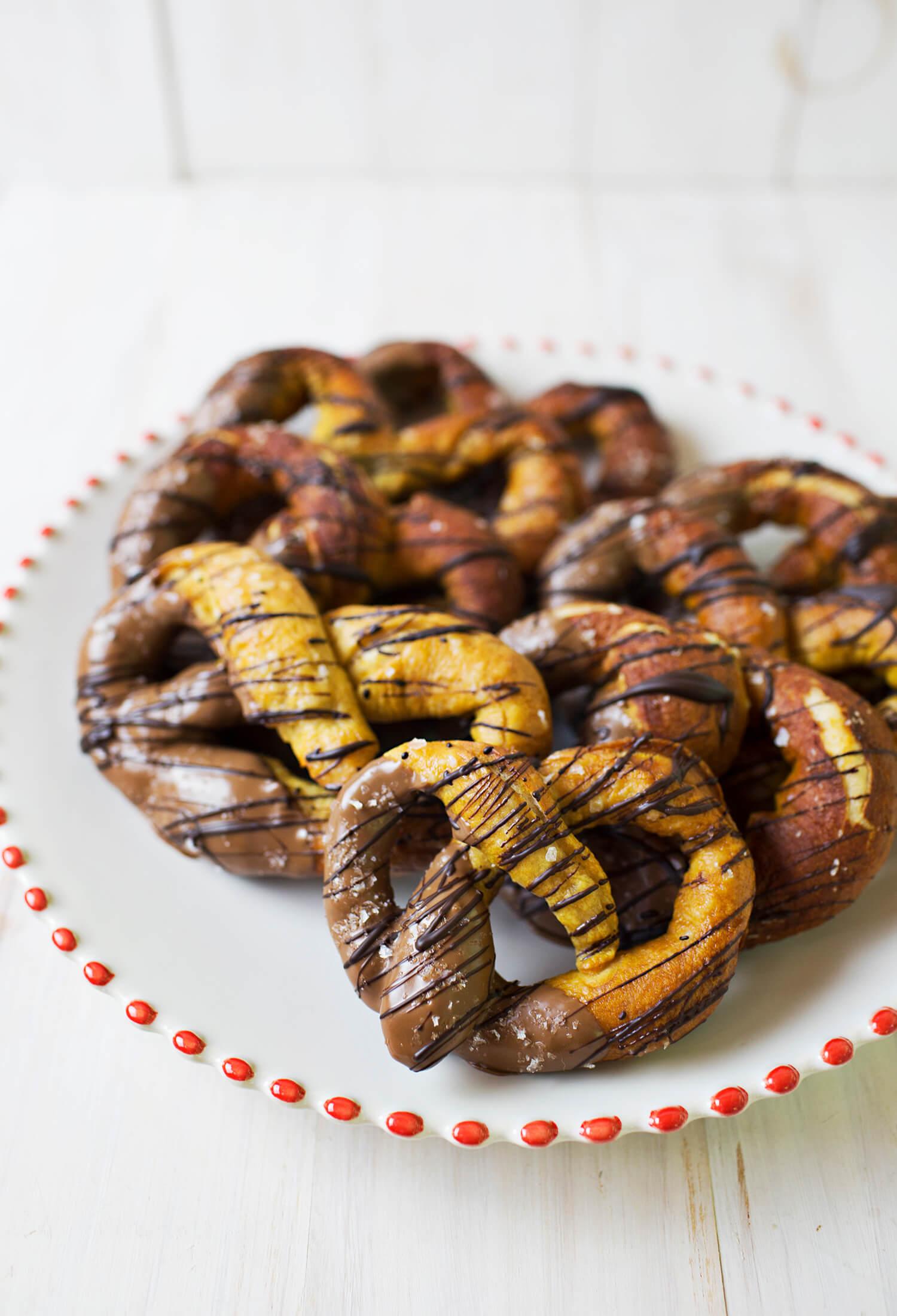 Chocolate Dipped Dessert Pretzels