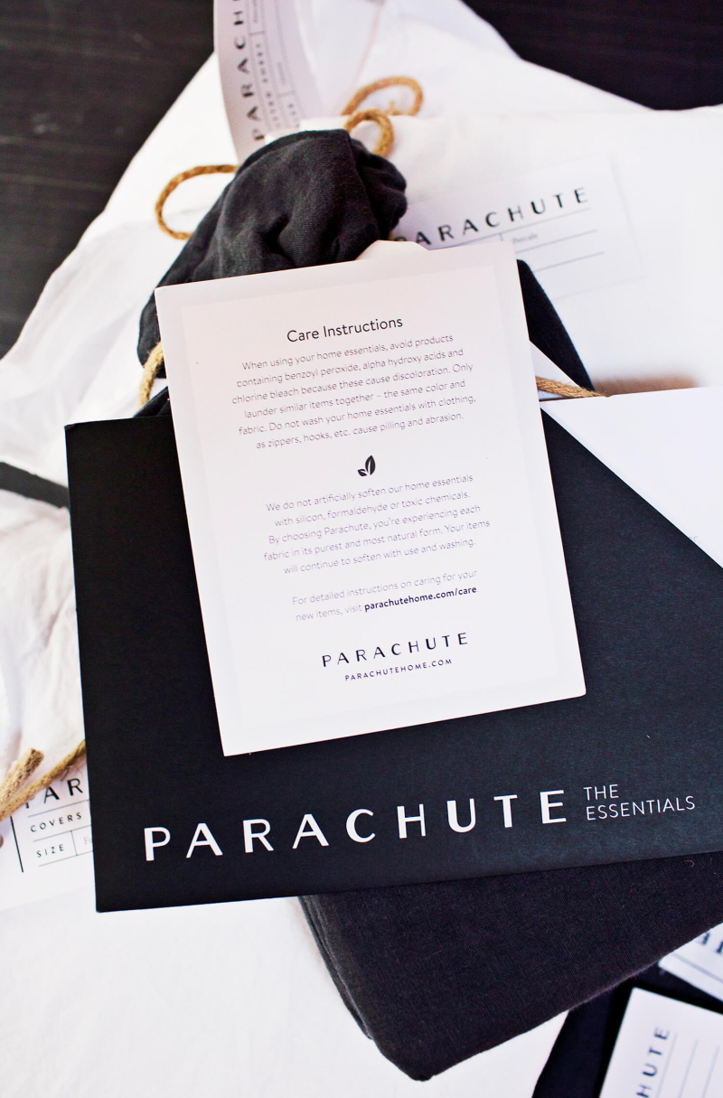 Parachute care instructions